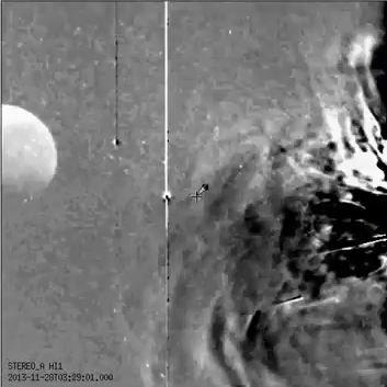 Objeto anômalo é registrado por câmera do observatório SECCHI
