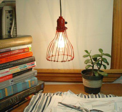pantalla de lampara hecha con alambre