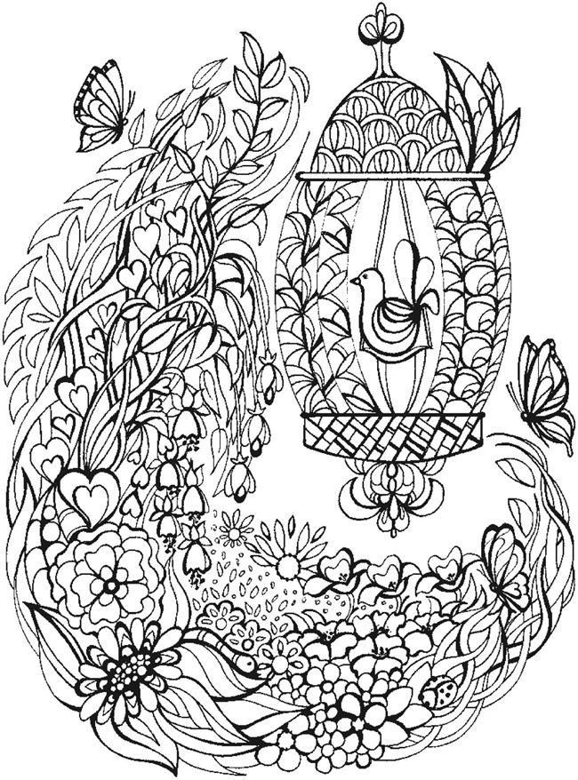 Welcome To Dover Publications Bliss Dream Coloring Book Coloring Books Bird Coloring Pages Coloring Pages