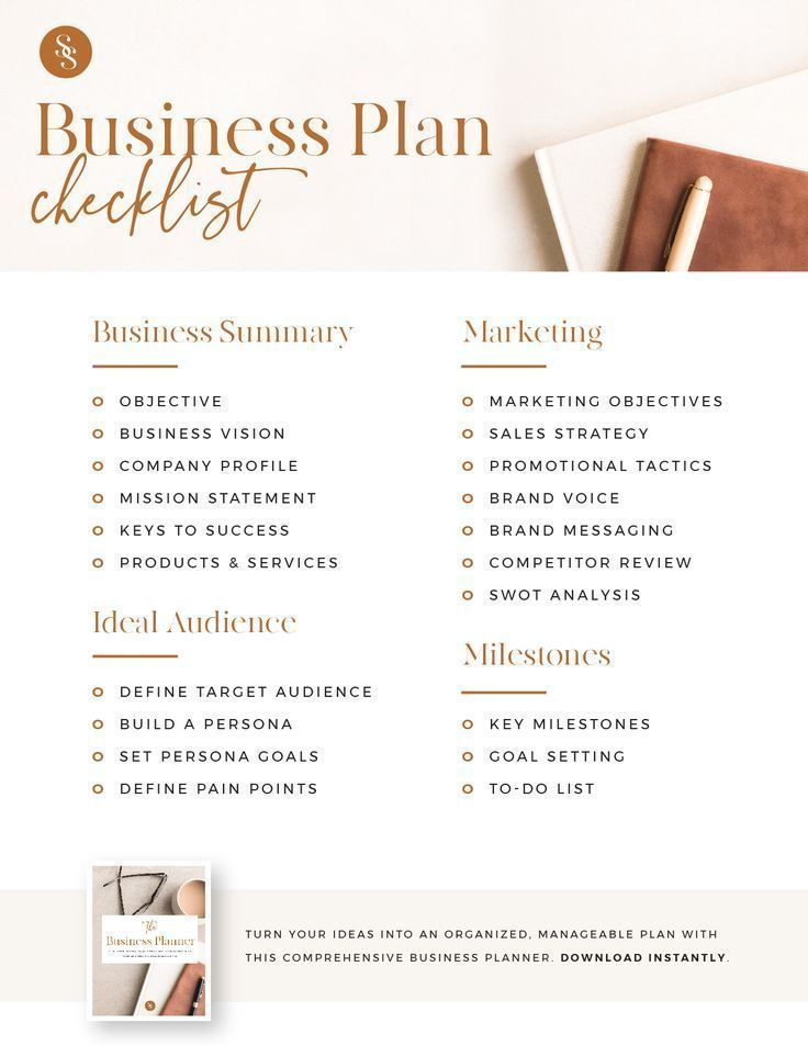 The Business Planner - A printable workbook to gro