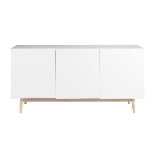 Armario Keter Escobero ~ Aparador vintage de madera blanca An 160 cm, Maisons du Monde, 230 u20ac Shopping list Cómoda