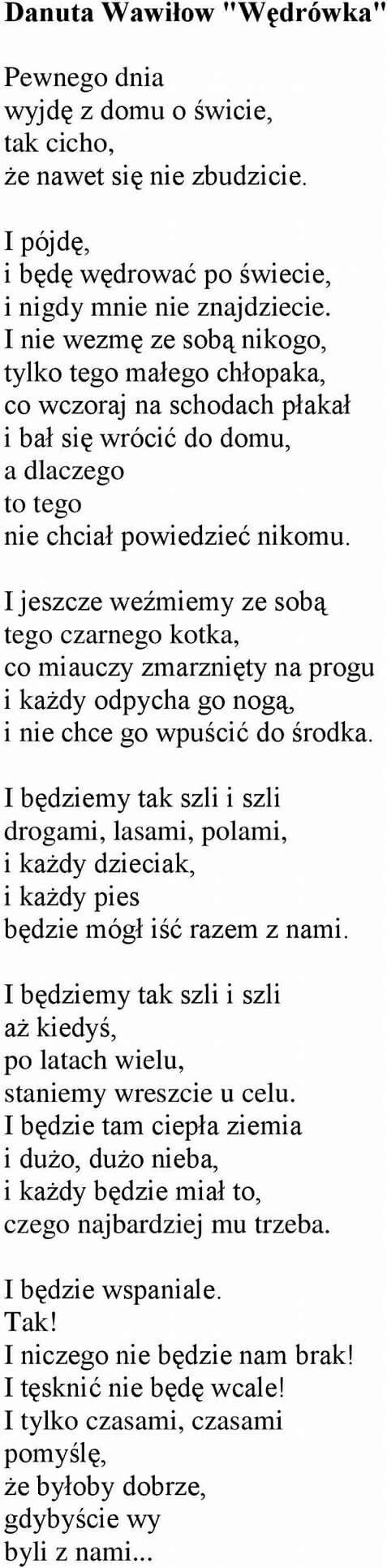 Proszę Przeczytajcie Do Końca Wiersze Poezja I