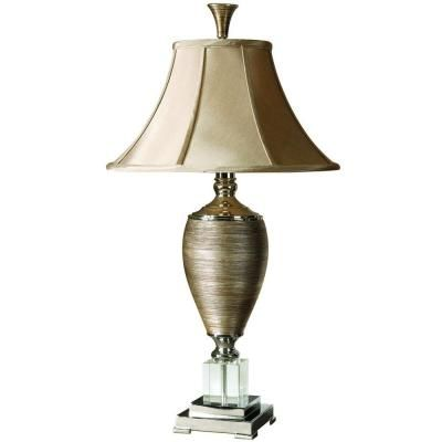 Global Direct 32 5 In Metallic Gold Table Lamp 26738 The Home Depot Table Lamp Gold Table Lamp Traditional Table Lamps