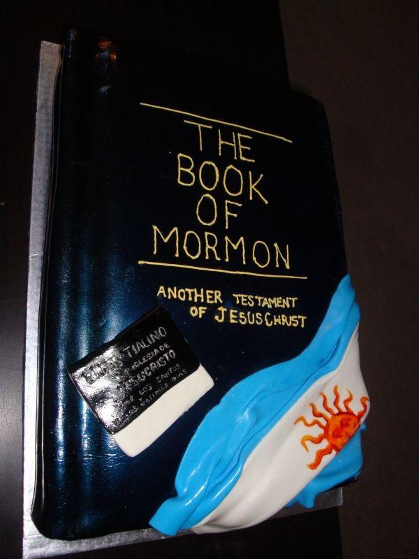 Pastel decorado para despedir misioneros, buena idea!