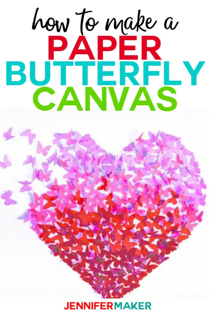 Download Paper Butterfly Canvas Wall Art Heart on Cricut - Jennifer ...