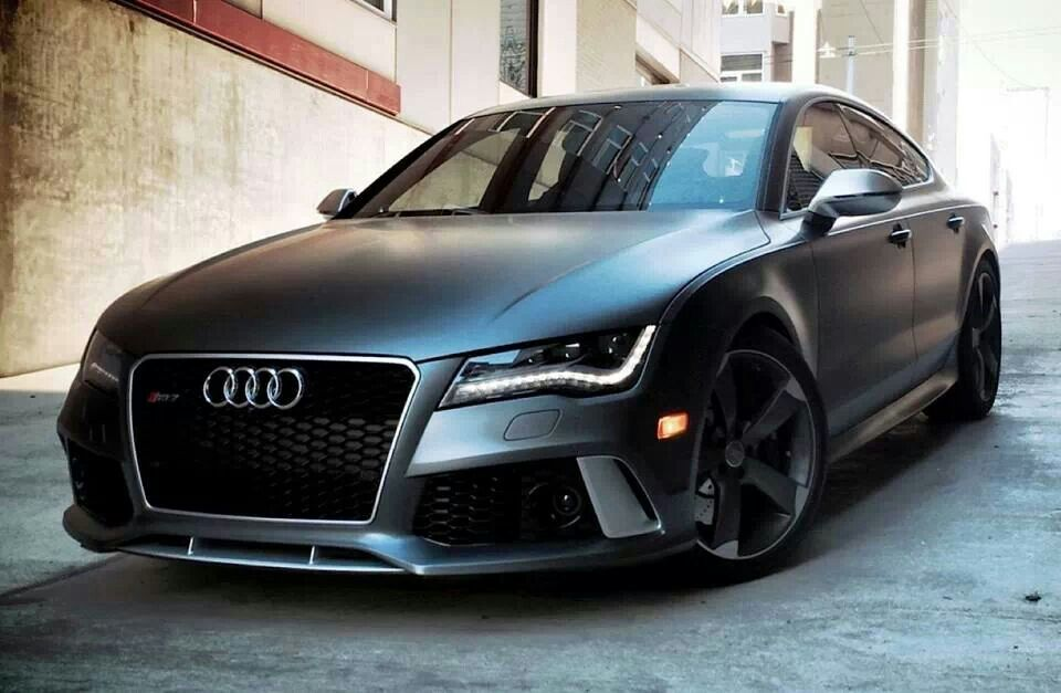 Audi Rs7 Sportback Matte Greymy 5 Year Plan Cars Pinterest