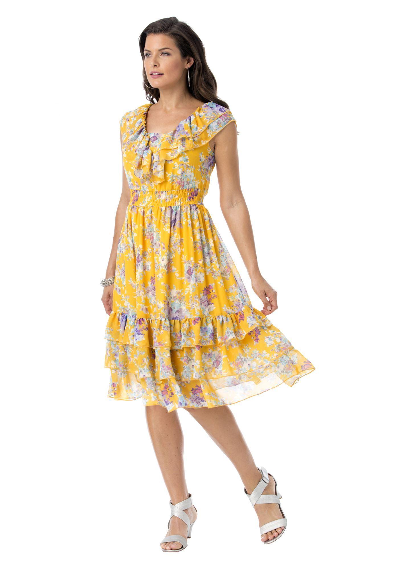 denim 24/7® sundress | plus size clearance dresses | roamans