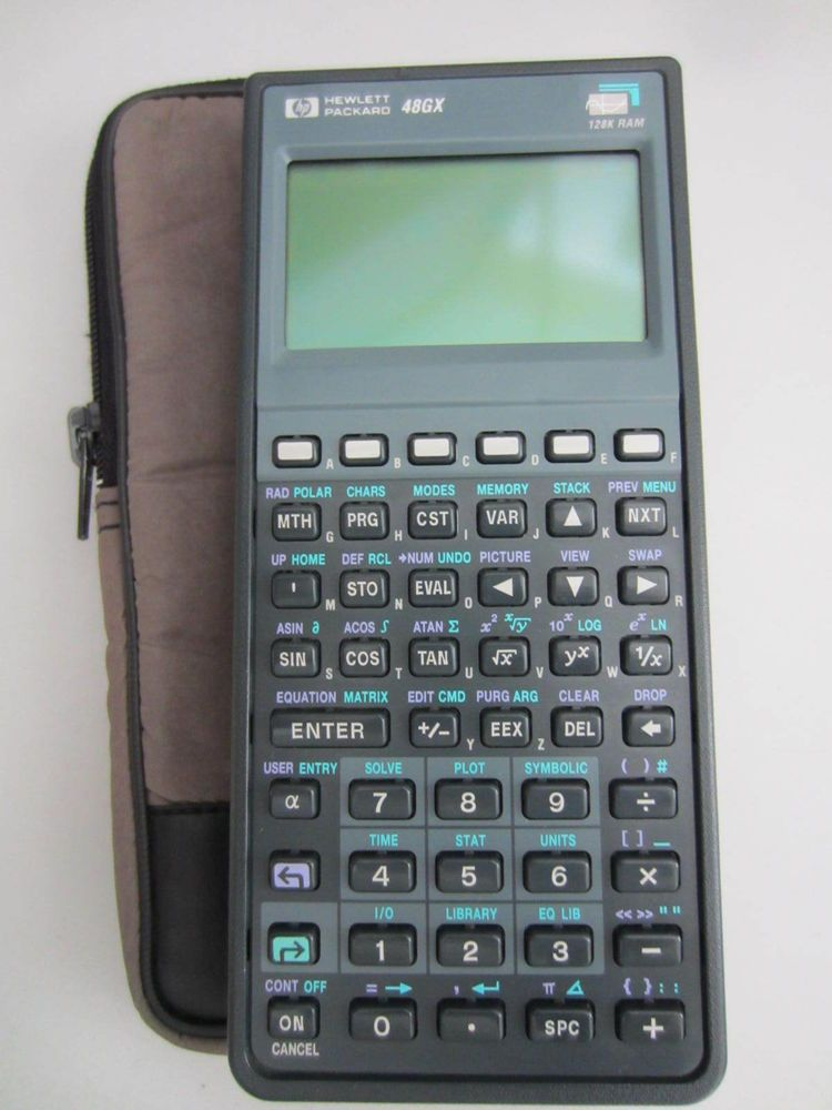 Hp 48gx Graphing Calculator 128k Ram With Case Very Nice