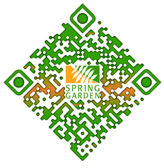 Check out this Super Cool Custom Branded QR Code for Spring Garden ...