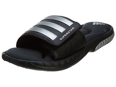 Adidas Fitfoam 3G G40165 Black Silver Slides Superstar Mens yf6Y7bg