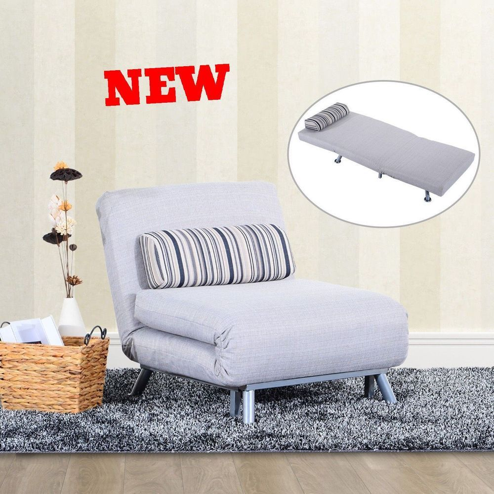 Foldable Futon Sofa Bed Couch Sleeper Modern Living Room Furniture ...