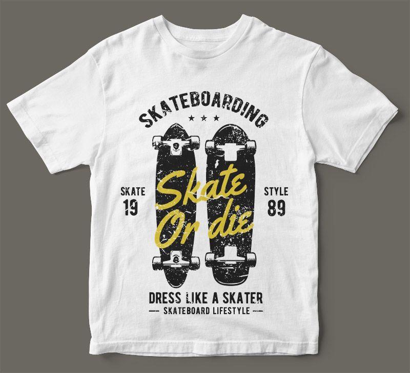 Less Work More Skate T-Shirt 100/% Cotton Premium Tee NEW