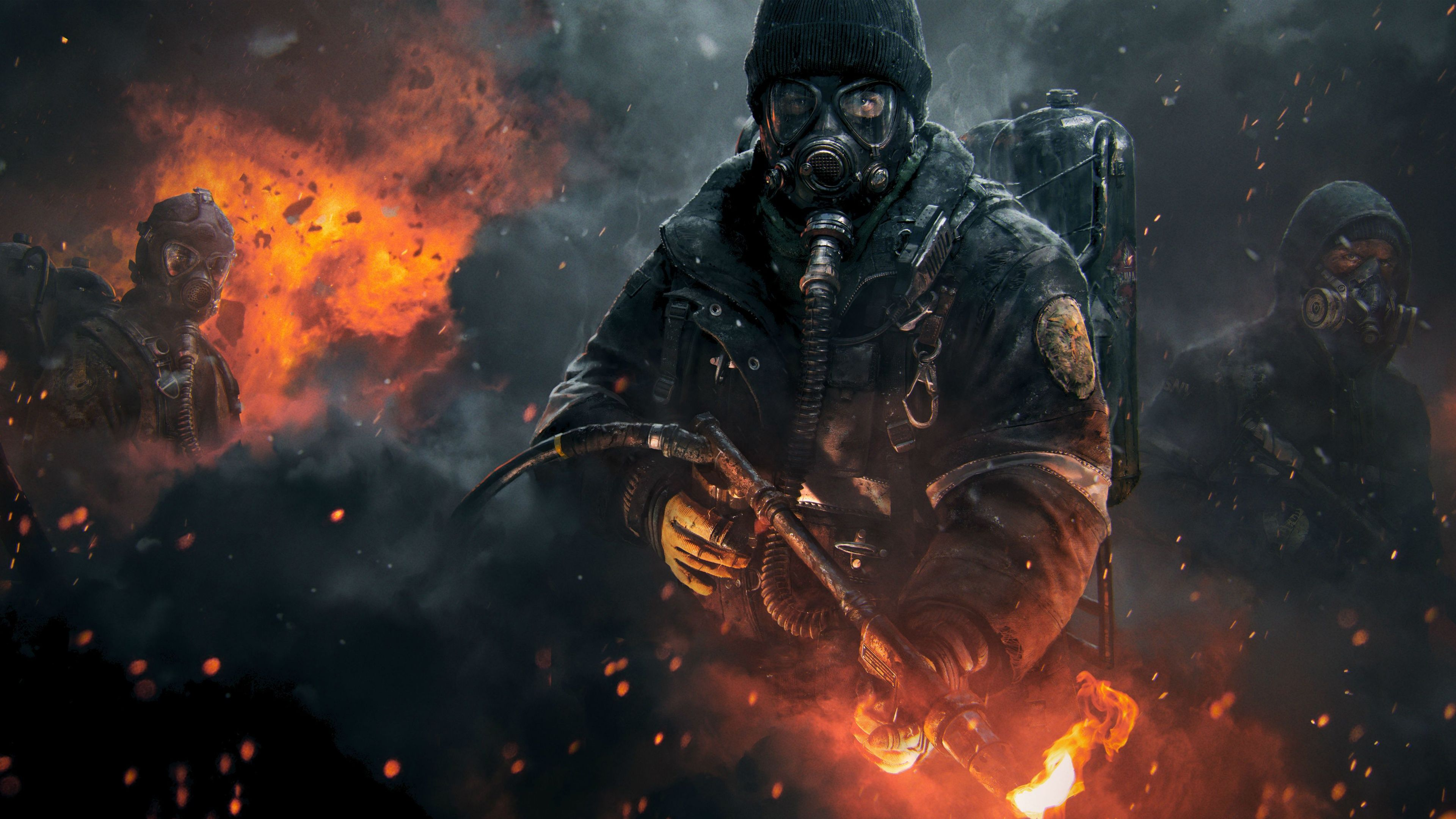 The Division Smoke Dust Dark 4k Gaming Wallpaper Gaming Wallpapers Gaming Wallpapers Hd