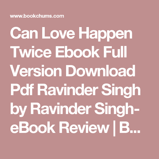 Happen pdf twice love book can