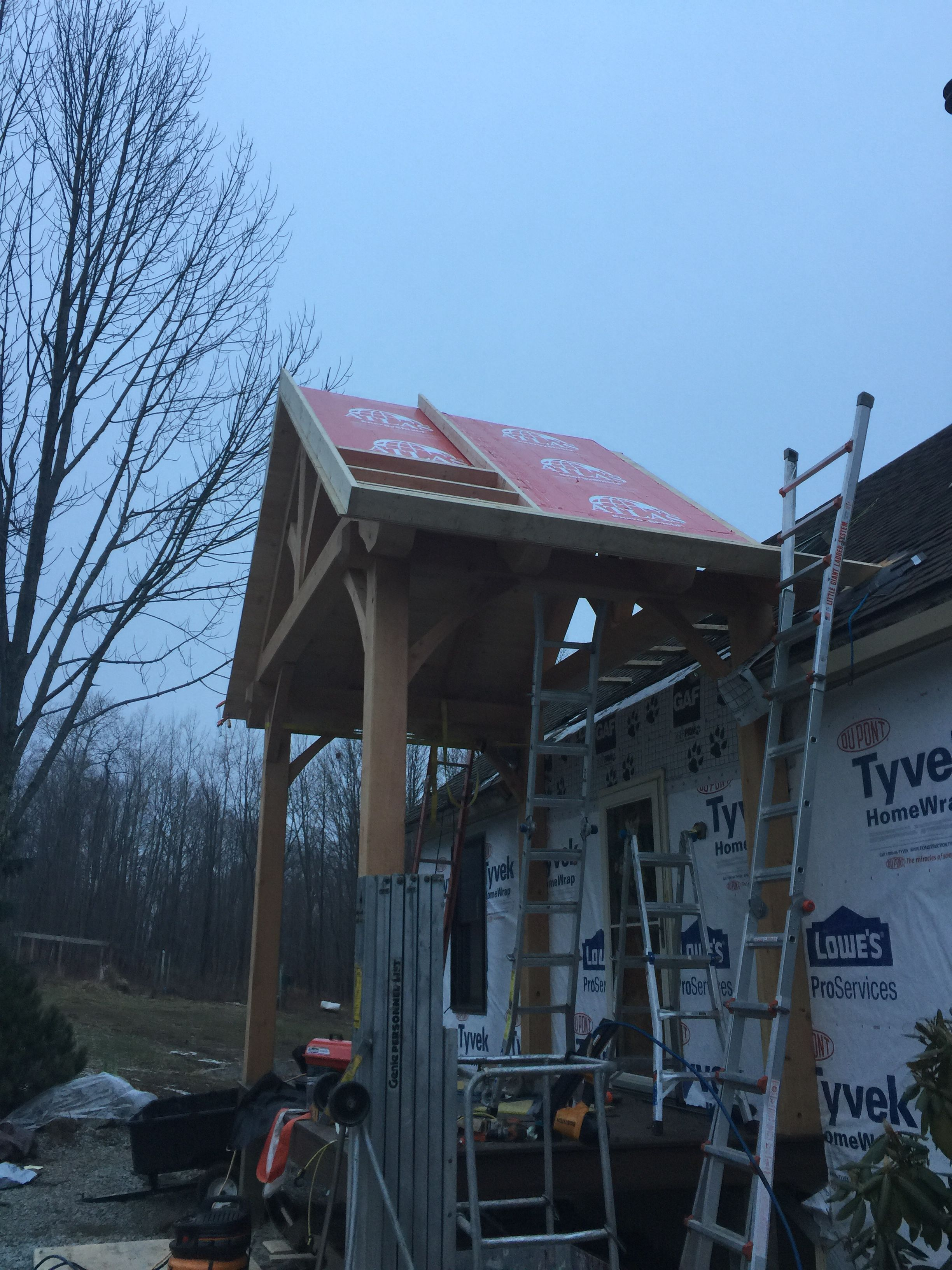 """Adding the 2""""panels. And framing the roof to add plywood"""