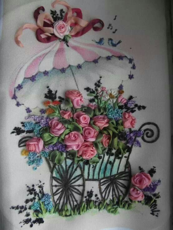 Kurdele Nak Ve Rnek Modelleri Ribbon Embroidery Embroidery