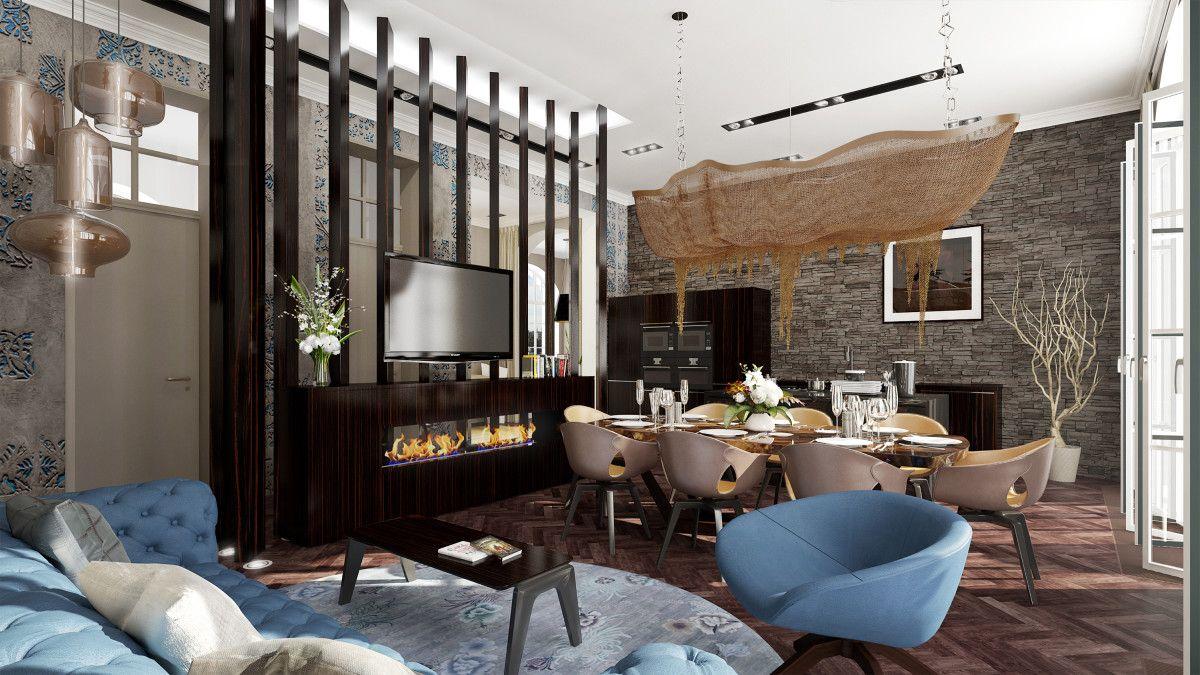 100 Klassische Moderne Architektur Und Einrichtungsideen | Gemütliches  Wohnzimmer Mit Blauen Stühlen | Http:/