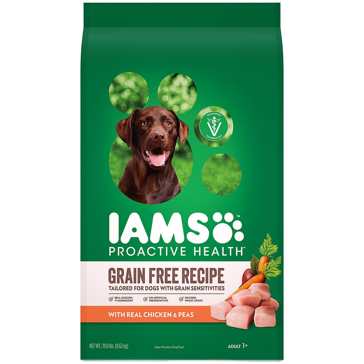 Iams Proactive Health Grain Free Recipe With Real Chicken And Peas