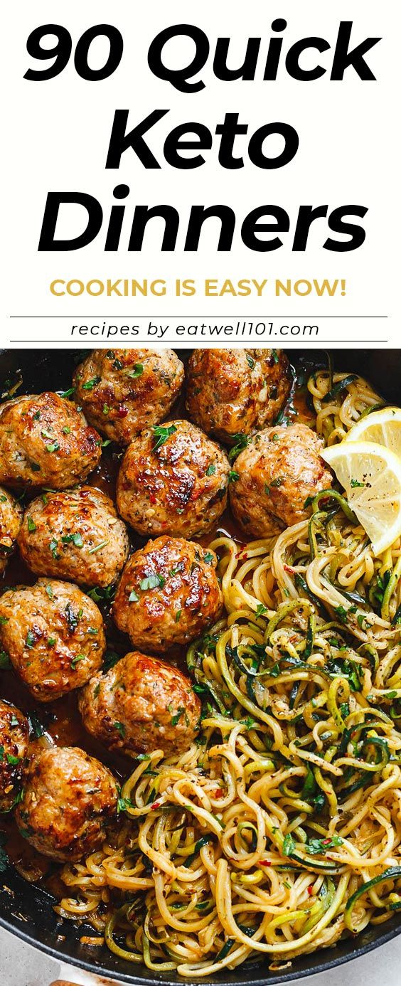 90+ Quick and Delicious Keto Dinner Recipe Ideas – Cooking is Easy Now! 90 Easy keto dinner recipes that are perfect for you to implement the Keto diet -