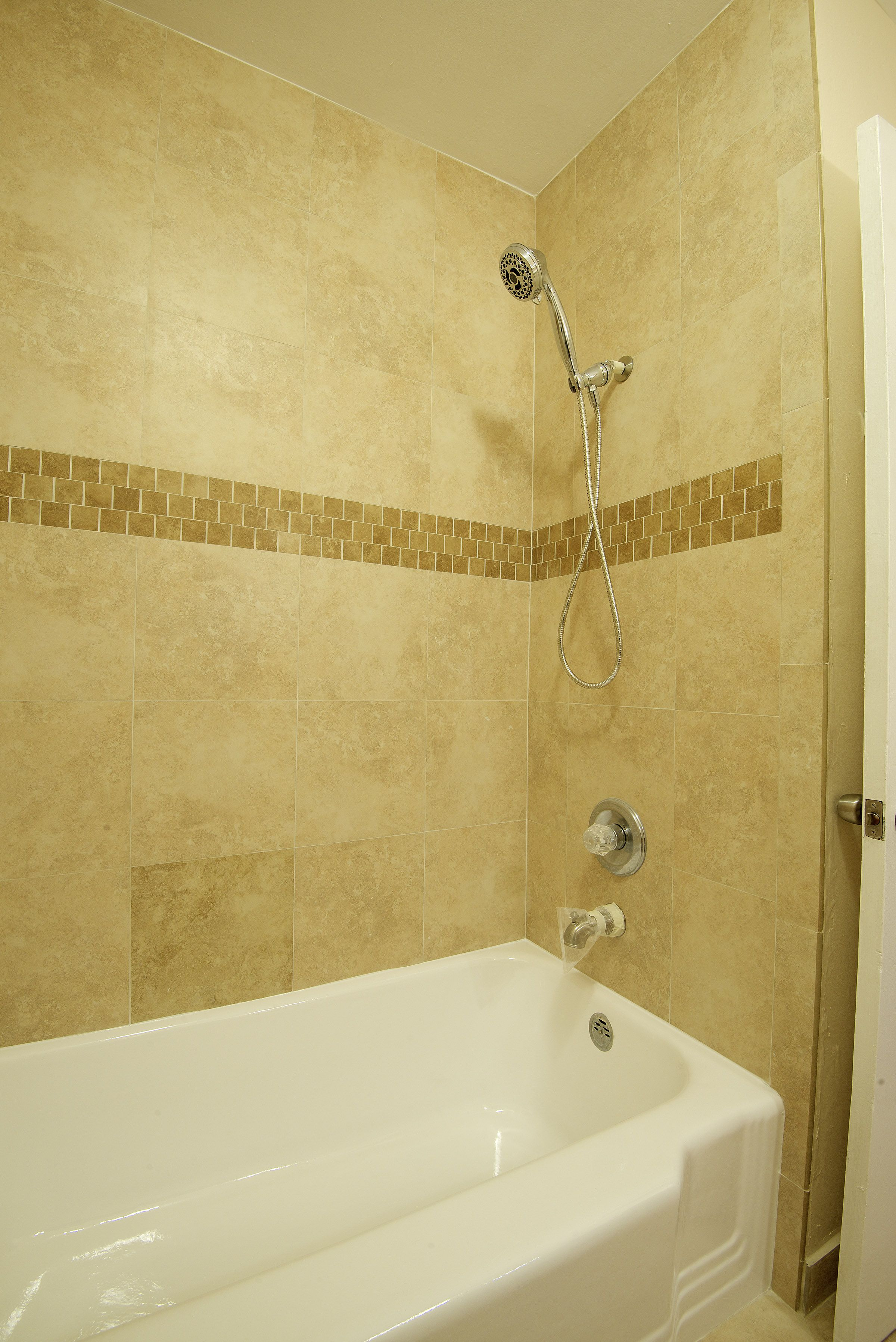 New shower tile refinished original tub (With images ...