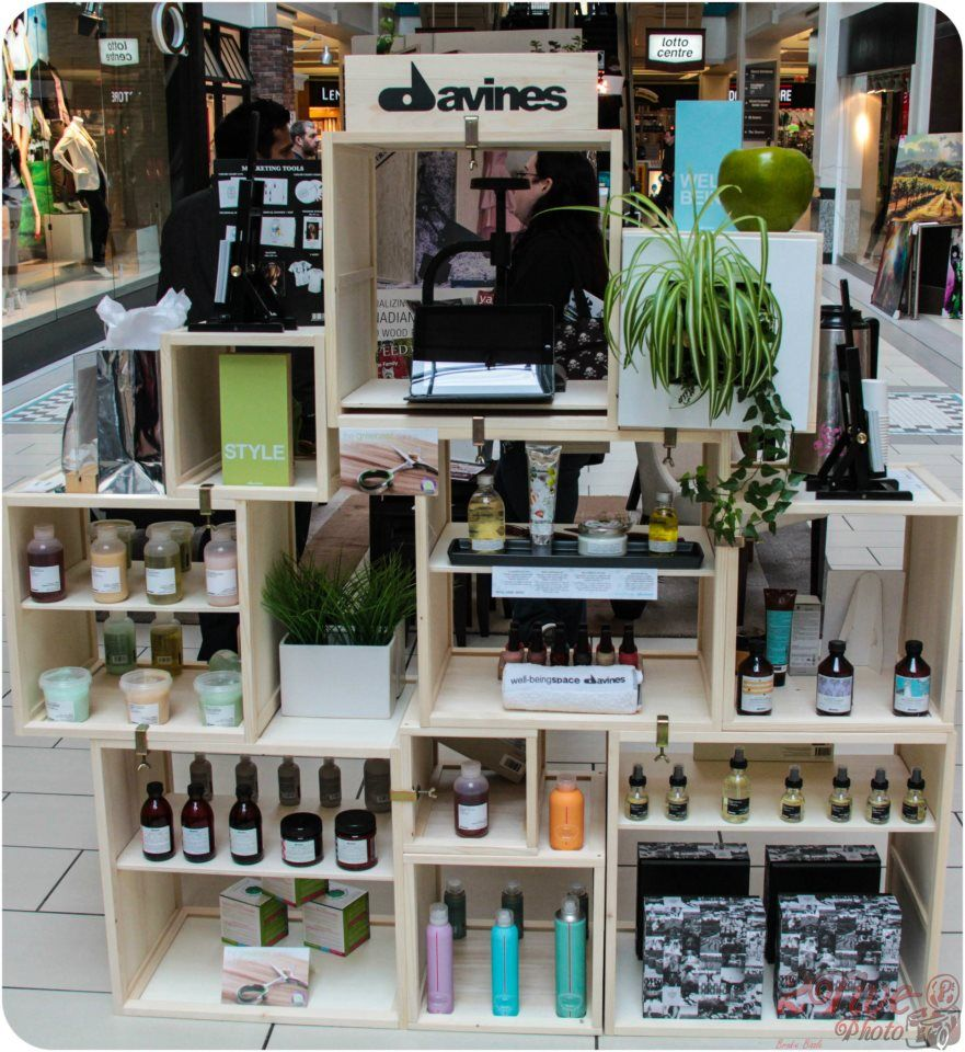 Davines product display by designhouse salon at the modern for Spa arredamenti