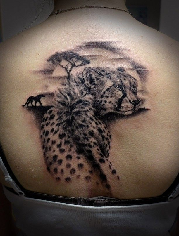 Tattoo Gepard Tattoo Rucken Frau Geparden Tattoo Jaguar Tattoo