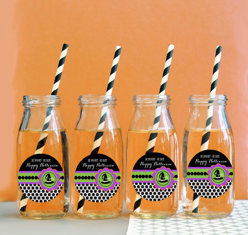 Personalized Spooky Halloween Milk Bottles Party Favors Halloween - halloween party decoration ideas