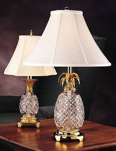 House Of Cards Crystal Pineapple Lamp Waterford Hospitality Table Lamp
