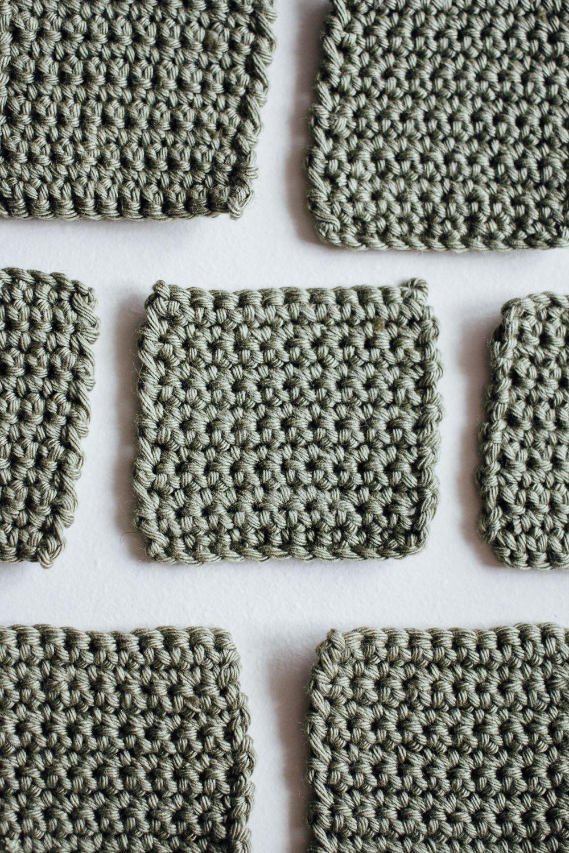DIY Reusable makeup remover pads. Crochet with soft cotton