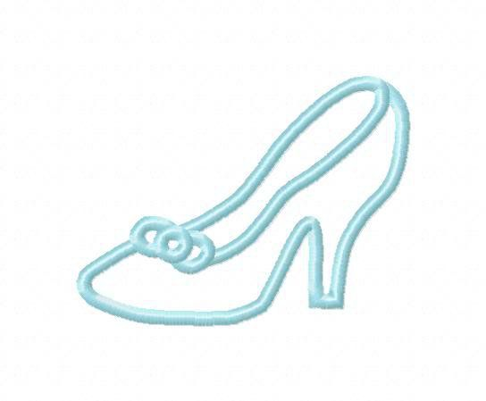 Disney Template Cinderella S Slipper Shoe Template Shoe Crafts