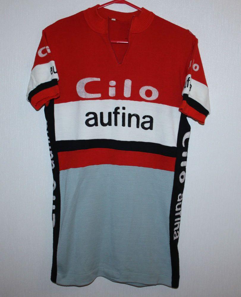Rare Vintage Cilo Aufina cycling team jersey 80 s Size 3 in Sports  Memorabilia… 9d1c2c974