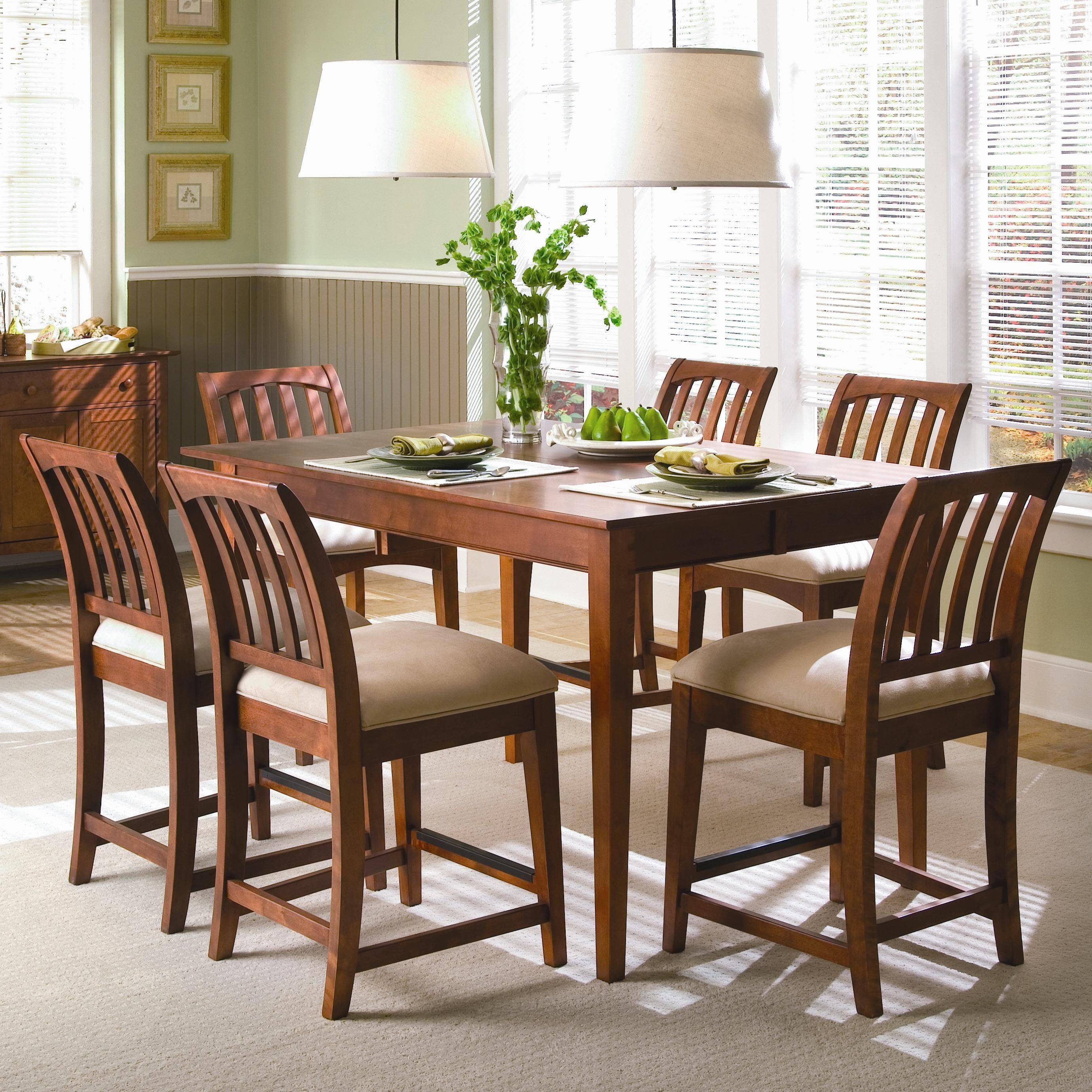 Gathering House 7 Piece Tall Dining Set By Kincaid Furniture Furniture Kincaid Furniture Dining
