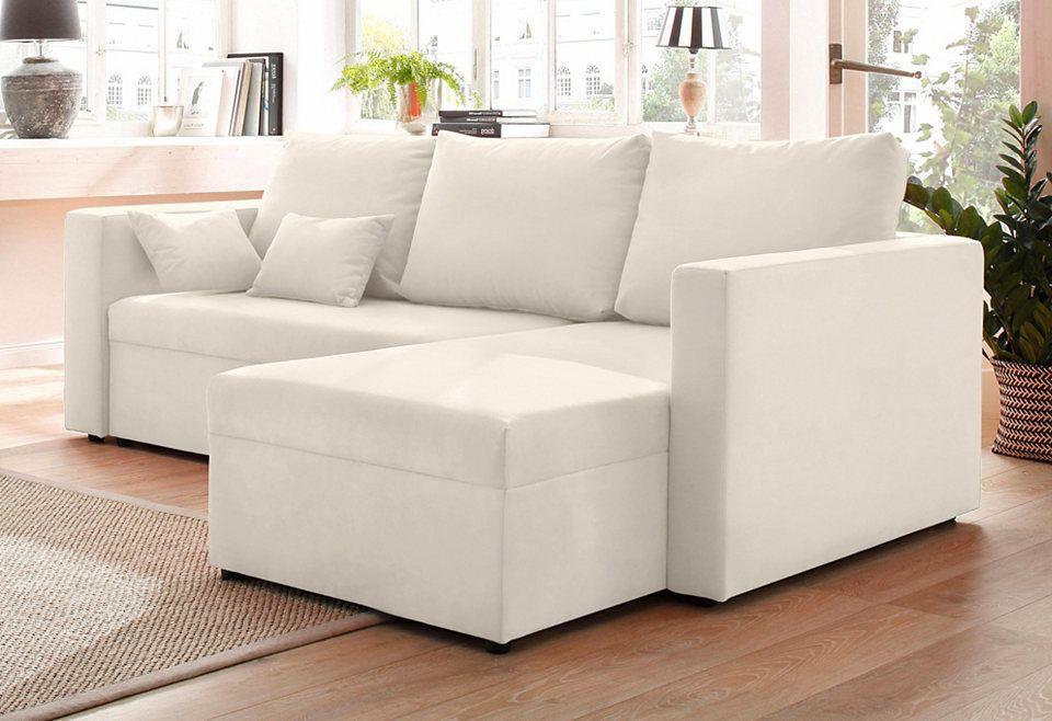 Quelle Sofa home affaire polsterecke pur wahlweise mit bettfunktion jetzt