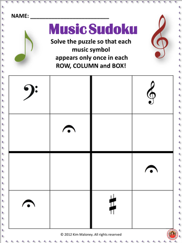 music sudoku puzzle free download click through to download