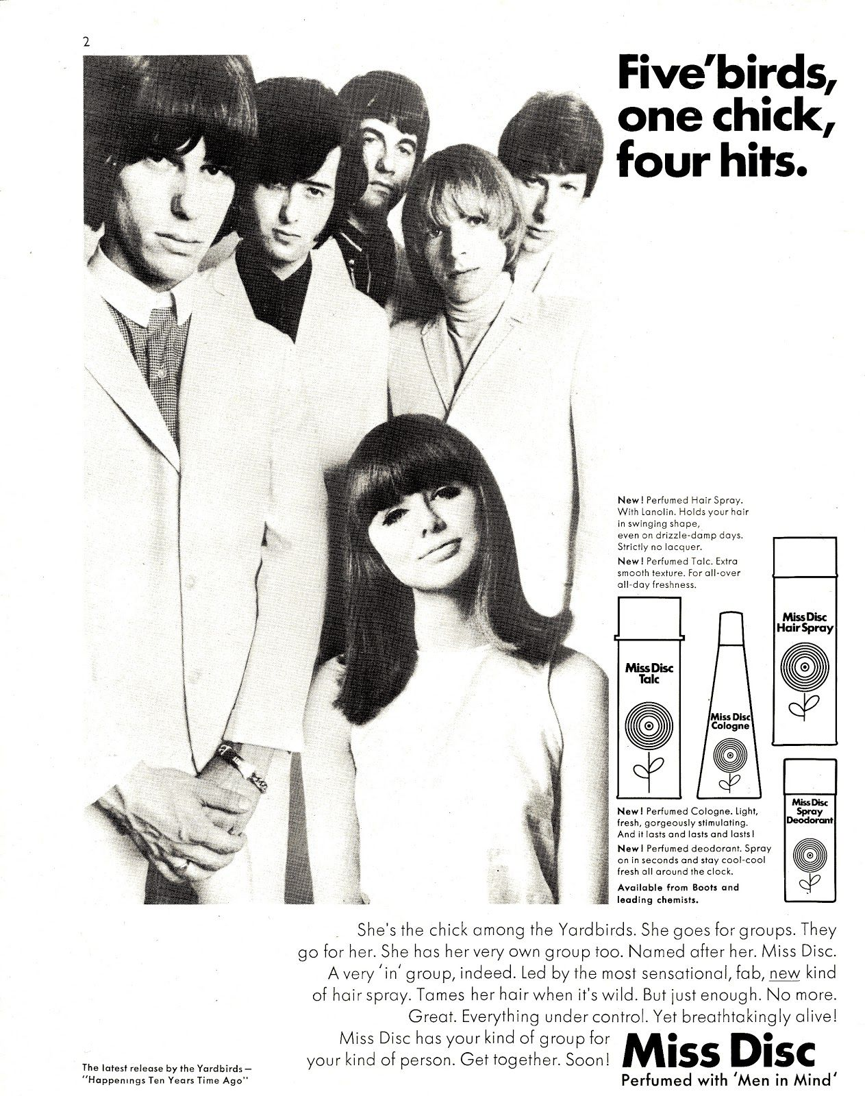 newenglandwoodstock: 1966 — The Yardbirds with model