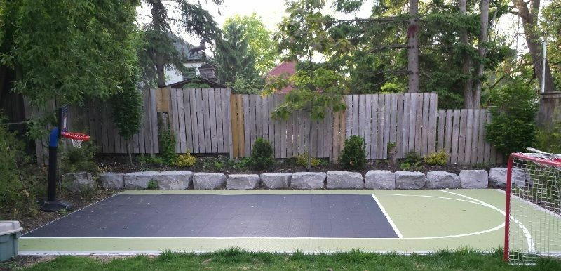 16x25 Backyard Court With Our DuraCourt Surface By SnapSports On A Concrete  Pad