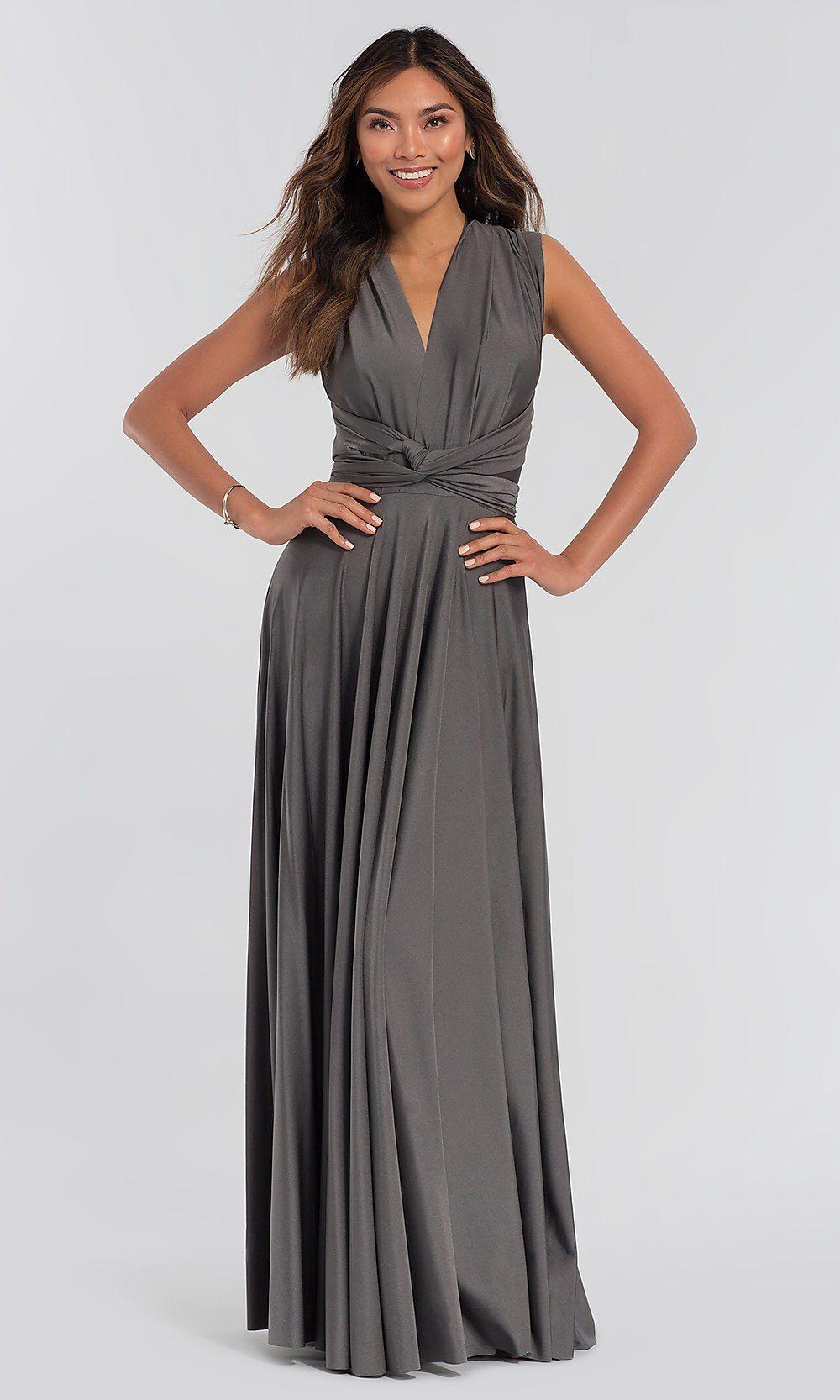 Long kleinfeld bridesmaid convertiblebodice dress our
