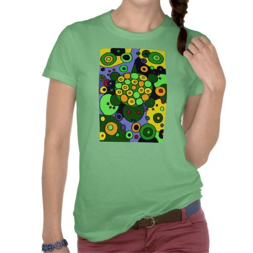 Colorful Turtles and Circles Abstract Art T Shirts #turtles #art #shirts #zazzle #original #animals #gifts