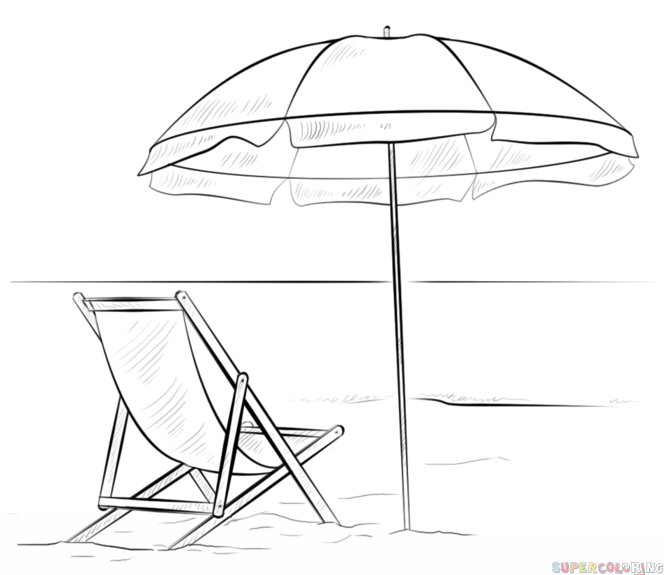 How To Draw A Beach Scene Step By Step Drawing Tutorials Beach Drawing Drawing Tutorials For Kids Step By Step Drawing