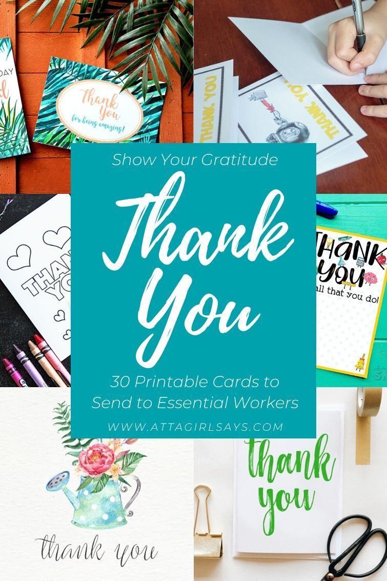 PrintAtHome Thank You Notes in 2020 Printable thank