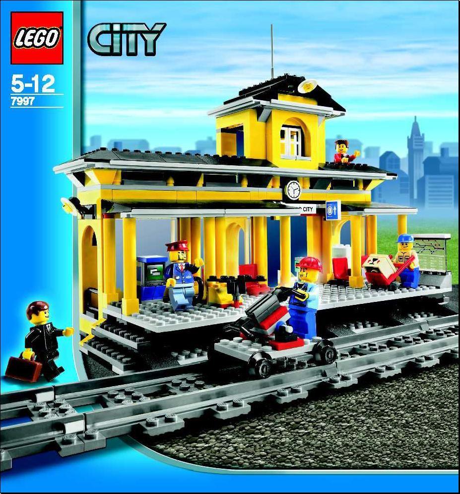 Lego Train Station Instructions 7997 City Lego Train Station Lego City Lego Trains