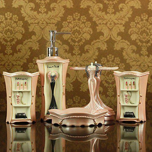 Jinrou European Antique Bathroom Kit Wedding Gifts Resin Bathroom