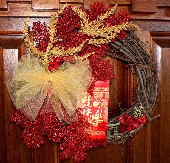 Wreath Chinese New Year Lunar New Year Spring by