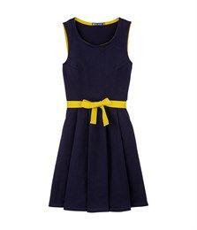 Damenkleid, ärmellos, aus schwerem Jersey uni