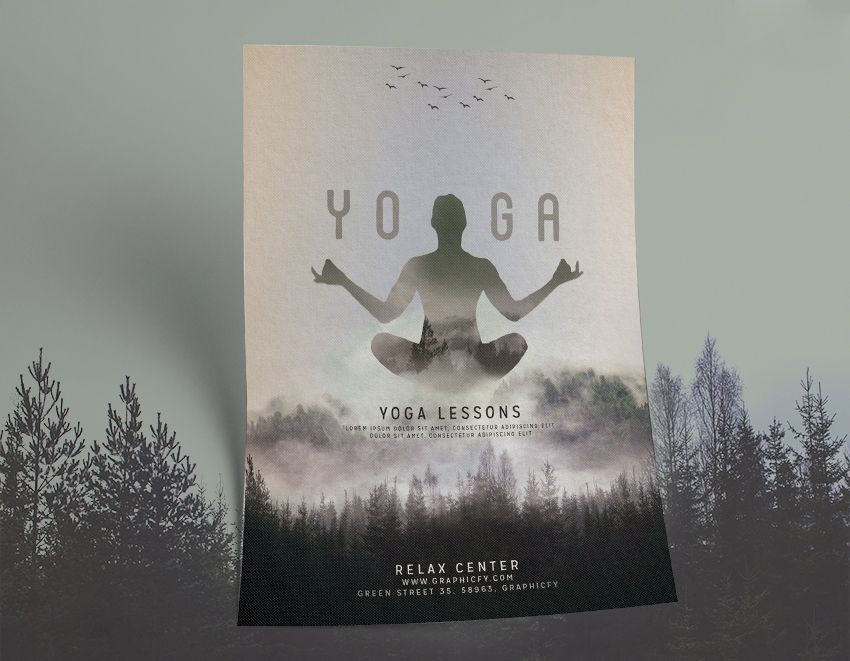 New Yoga Flyer Template Minimalist and clean design Perfect - yoga flyer