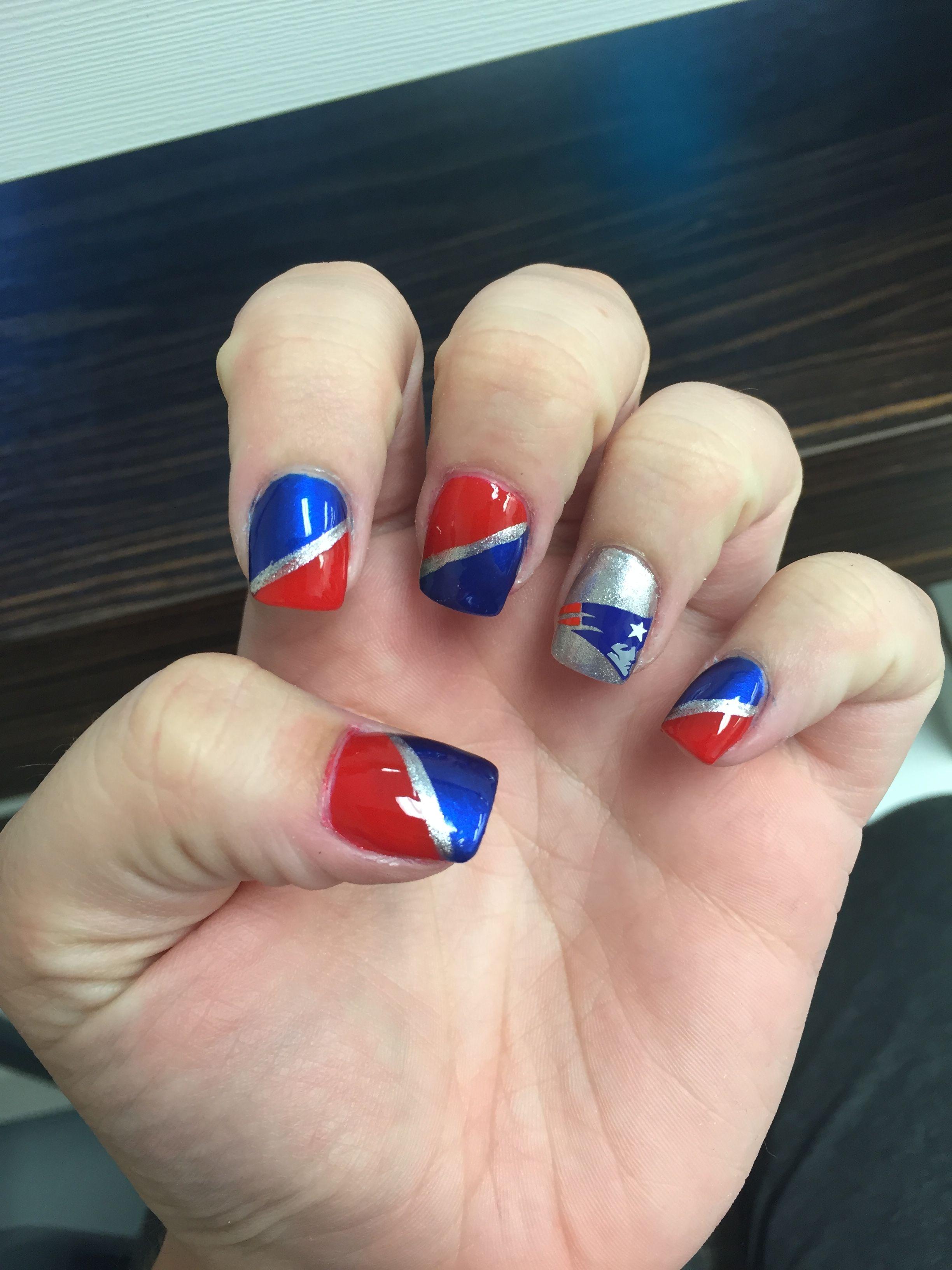 New England Patriots Nails Football Nails Patriotic Nails Patriotic Nails Design