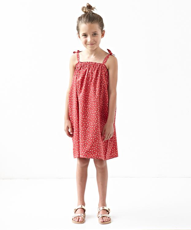 JO SWING DRESS - RED FLORAL – VeeCaravan