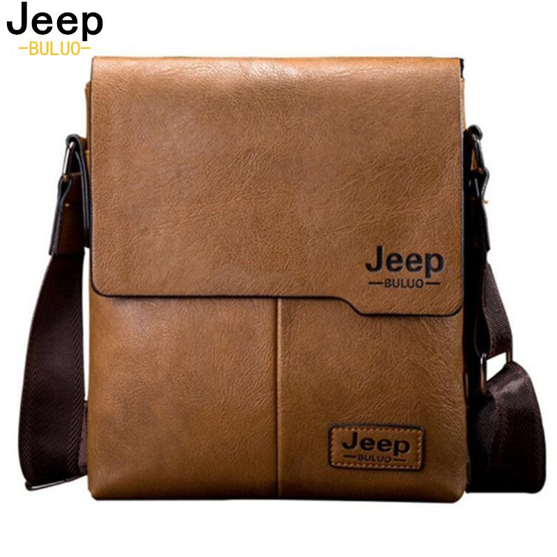 f9326607c8d2 ดราคา เปรยบเทยบ Men Tote Bags JEEP BULUO Famous Brand New Fashion Man  Leather Messenger Bag Male Cross Body Shoulder Business Bags For Men 1505  สงซอเดยวน