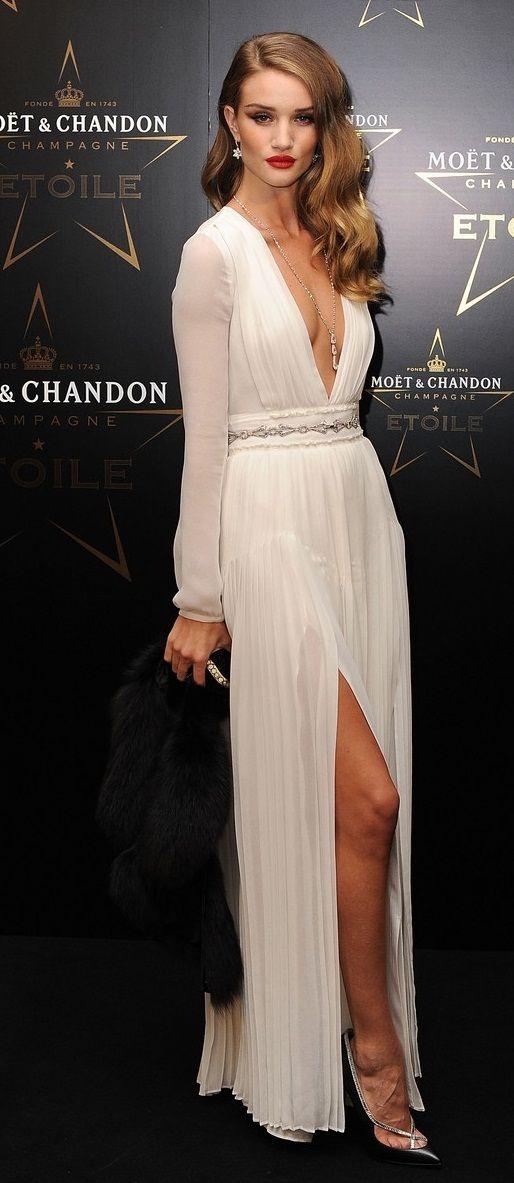 26d40459b rosie in burberry dress. | Fashion | Glamour hair, Hollywood hair ...