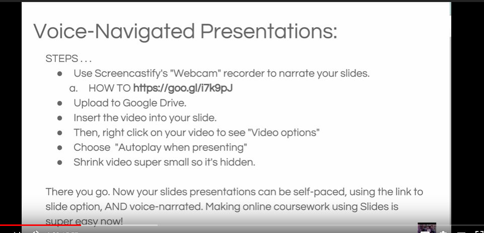 Adding voice narration to Google Slides Writing lessons